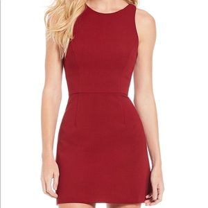 Red fitted mini dress